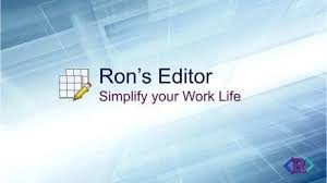 Ron`s Editor Crack 09.29.1211+ Activation Key Full Torrent Download 2020